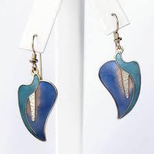 laurel burch earrings laurel burch calla vintage pierced earrings flotsam from