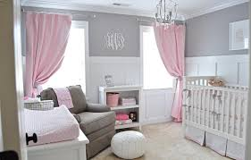Soft Pink Curtains Baby Nursery Decor Pretty Room Pink And Grey Baby Nursery Windows