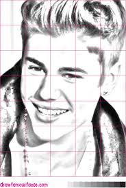 draw justin bieber u0027s face draw famous faces