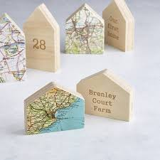 little house map location ornament new home gift by bombus