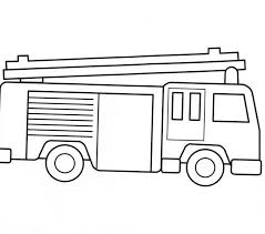 coloring pages kids fire truck coloring