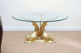 dolphin table with glass top brass dolphin coffee table for sale at 1stdibs