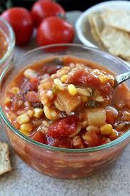 tomato garden vegetable soup great grub delicious treats