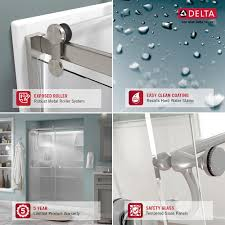 How To Clean Shower Door Tracks Delta 48 In To 60 In Contemporary Sliding Shower Door Track