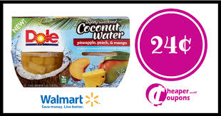 dole fruit bowls walmart dole fruit bowls in coconut water only 24 cheaper with