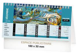 chevalet de bureau personnalisé calendriers couleurs nature recto calendrier chevalet de bureau