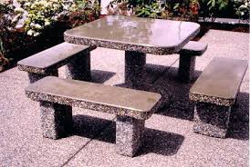 Concrete Patio Tables And Benches Concrete Tables And Benches U2013 Antoniobhardwaj Me