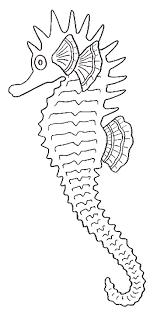 coloriage hippocampes hippocampes 1 à colorier allofamille