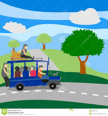 jeepney philippines art philippine jeepney with passengers stock illustration image