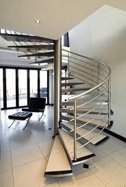 indoor spiral stair with floating treads and stainless steel indoor spiral stair with floating treads and stainless steel handrails