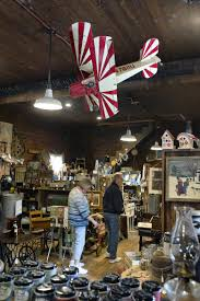 Flea Market Flags Once Abandoned North Hall General Store Now An Antiques Folk Art