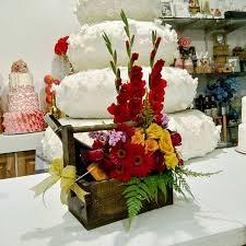 basket of flowers basket of flowers and wine flower shop in cebu cebu city flower shop