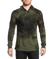 affliction men u0027s pullover hood supreme quality tees for the