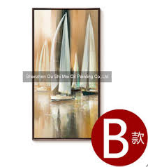 sailboat home decor hand painted modern boat seascape painting on canvas for living