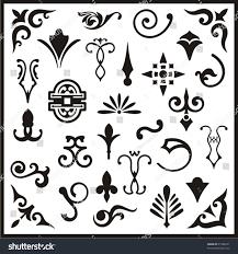 ornamental design elements vector series stock vector 21586231