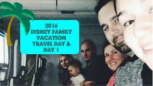 our disney family vacation vlog 2016 travel day day 1 with the