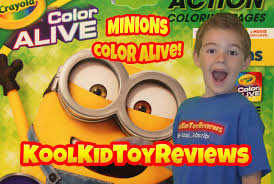 minions color alive by crayola despicable me coloring pages kool