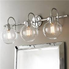 Retro Glass Globe Bath Light  Light Bath Light Canopy And Globe - Bathroom vanity light fixture globes