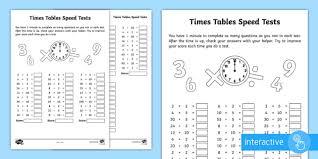multiplication tables missing numbers activity sheet worksheet