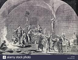 chambre des tortures la chambre de de l inquisition espagnole banque d images