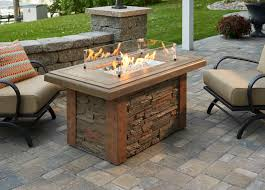 Gas Firepit Table Patio Furniture With Gas Pit Chic Design Barn Patio Ideas