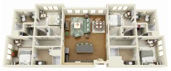 four bedroom floor plans 50 four 4 bedroom apartment house plans architecture design