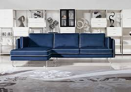 Fabric Sectional Sofas Modern Blue Fabric Sectional Sofa