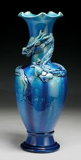 Antique Chinese Vases For Sale Chinese Antique Blue Glazed Porcelain Vase With A Dragon