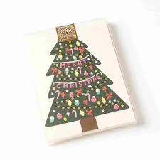 merry tree boxed cards set of 8 boxed
