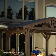 lodge ii metal roof woodlanddirect com pergolas the outdoor