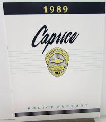 chevrolet caprice police car package dealer sales brochure fleet