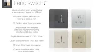 modern electrical switches trendi switch modern designer light switch u0026 socket collection new