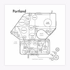 Portland Me Map by Portland Maine Map Print U2014 Archie U0027s Press