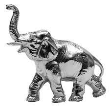 chrome elephant ornament ornaments elephants and