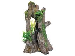 Vivarium Wood Decor Vivarium Tree Trunk Ornament With Plants Aquarium Driftwood