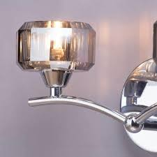 Wall Light Shades Sammi Decorative Wall Light With Pull Cord Switch 2 Light Chrome