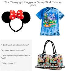 Disney Girl Meme - the best of starter pack memes disney girl blogger in disney world