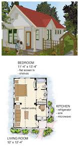 Bungalow Cabin Cottage Traditional House Plan 56581 Narrow Lot