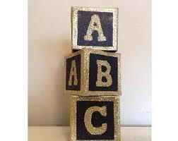baby shower centerpiece alphabet block centerpiece baby