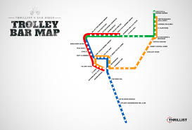 Portland Streetcar Map by San Diego Trolley Bar Map Bars Near Every San Diego Trolley Stop