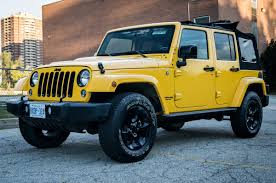 yellow jeep 2015 jeep wrangler unlimited review doubleclutch ca