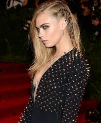 hairstyles for long hair punk cara delevingne hairstyle punk braid at met gala