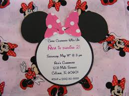 whimsical creations by ann minnie mouse party ideas invitations