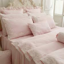 girls pink bedding sets aliexpress com buy princess pink purple lace cotton bedding sets