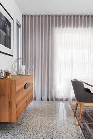 Decorative Traverse And Stationary Drapery by Full Height Curtains Terrazzo S Fold Curtain In Sheer Cavalier