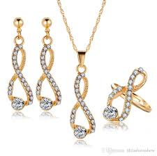 necklace set crystal images 2018 bridal jewelry set crystal long necklace infinite earrings jpg
