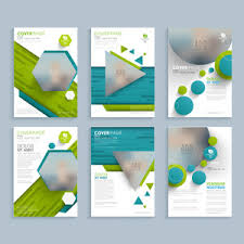 two page glossy brochure template or flyer design with space to