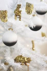 White Christmas Tree Gold Decorations by My Diy Black U0026 White Christmas Tree
