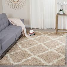 Area Rugs 6 X 10 Safavieh Dallas Shag Beige Ivory 6 Ft X 9 Ft Area Rug Sgd257d 6