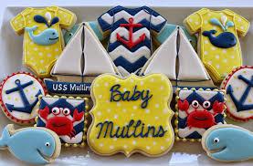 jaclyn u0027s cookies nautical baby shower cookies